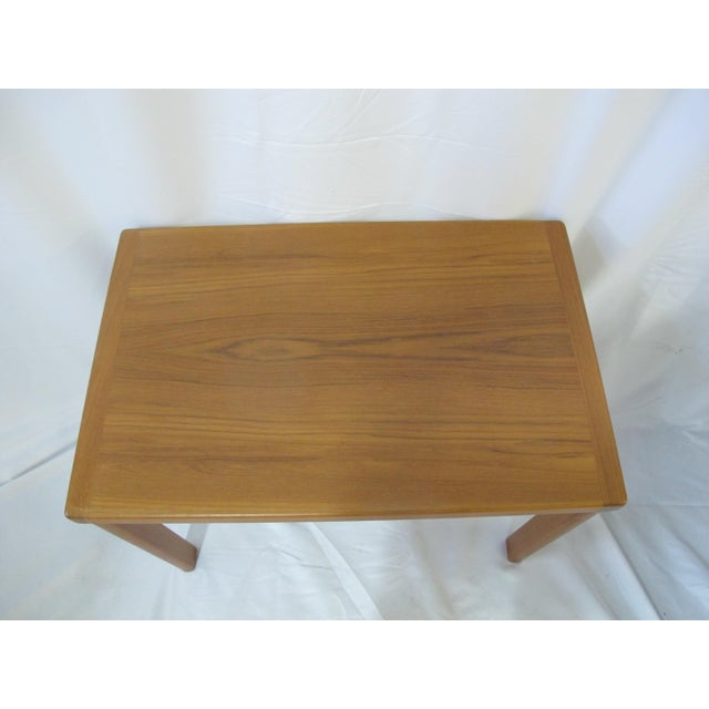 Wood 1960s Mid Century Modern Vejle Stole Mobelfabrik Teak Denmark Nesting Tables - Set of 3 For Sale - Image 7 of 11