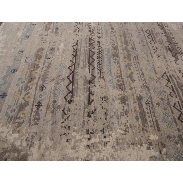"""Textile Apadana - 21st Century Contemporary Indian Rug, 8'3"""" x 9'9"""" For Sale - Image 7 of 7"""