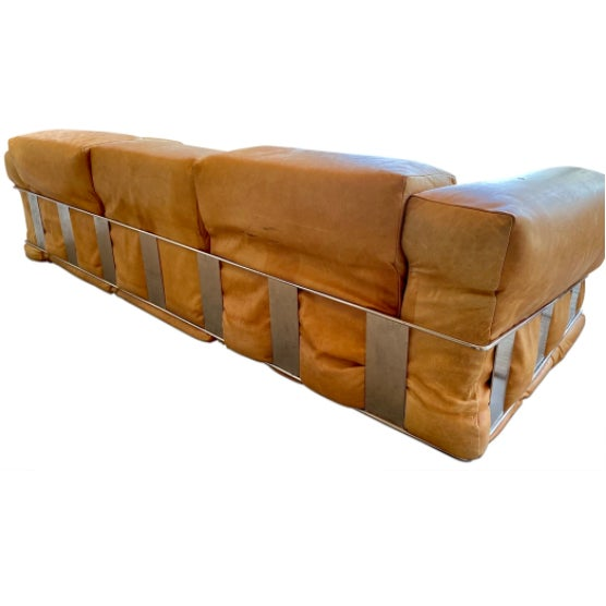 Adrian Pearsall Adrian Pearsall Leather Sofa For Sale - Image 4 of 5