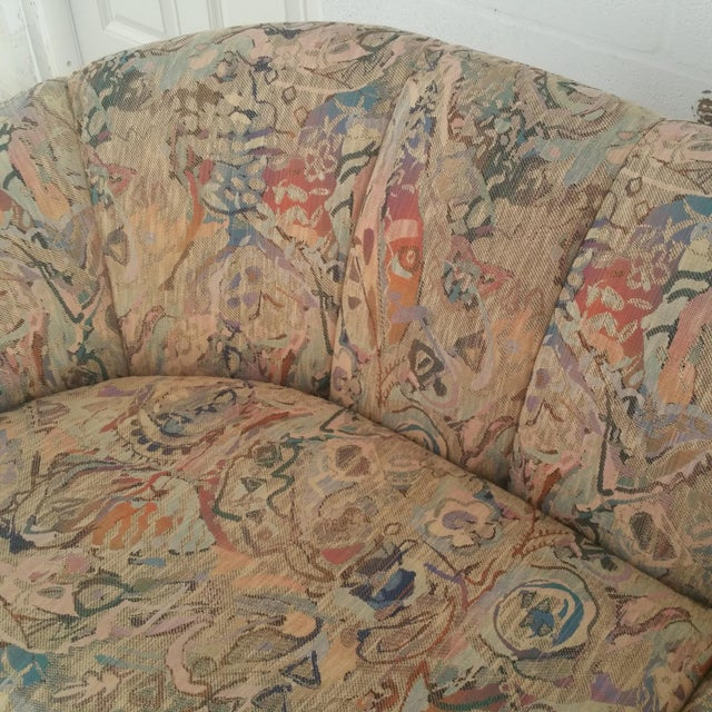 Fabric Thayer Coggin Sofa- Custom Vintage For Sale - Image 7 of 10