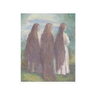 Michelle Farro Long Long Hair Giclee Print For Sale