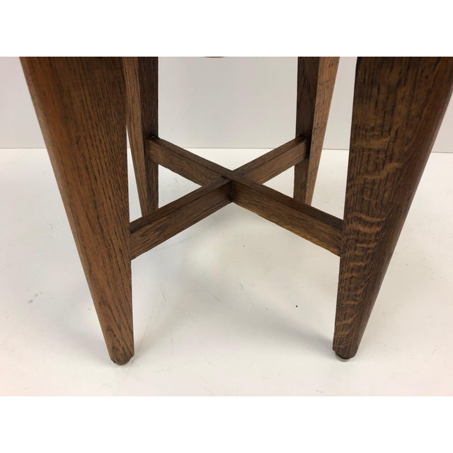 Arts & Crafts 1940s French Oak Stools For Sale - Image 3 of 6