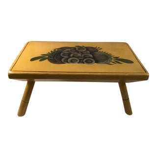 Mid-Century Wooden Painted Stool For Sale