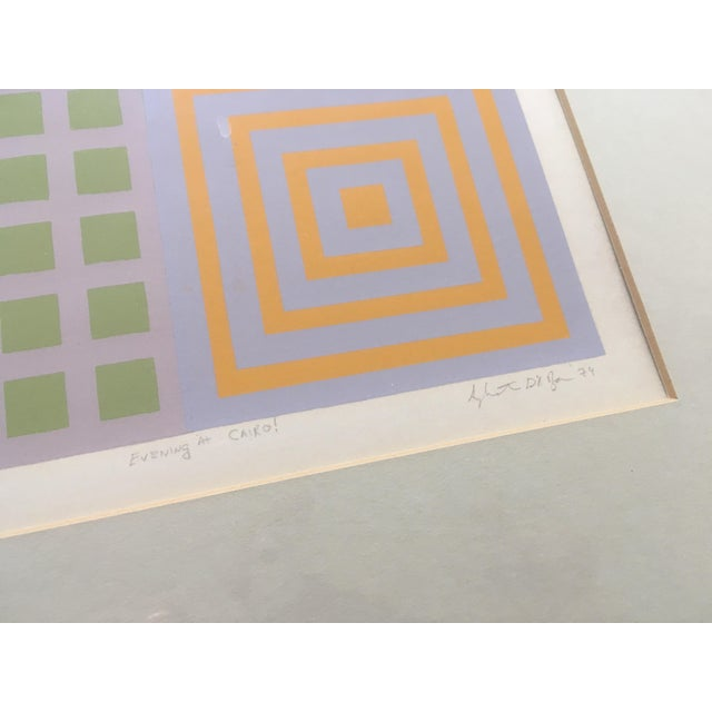 70's Geometric Abstract Silkscreens - A Pair - Image 8 of 8
