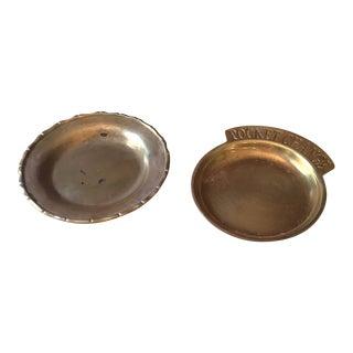 Brass Pocket Change Catchalls - a Pair For Sale