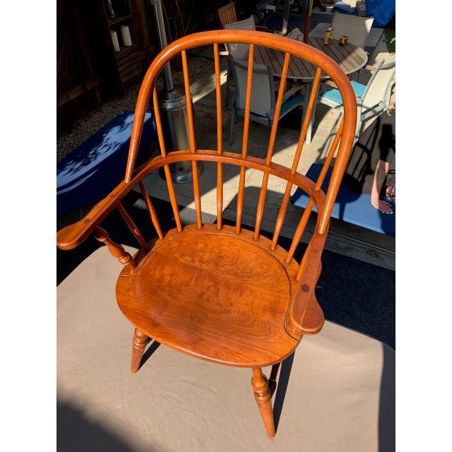 1950s 1950s Vintage Original Leopold Stickley Rockport Windsor Armchair For Sale - Image 5 of 13