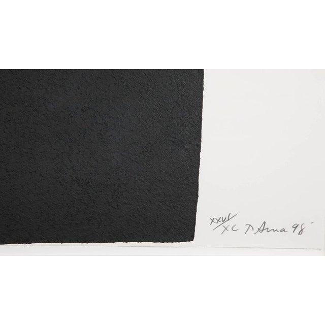 "Paint Richard Serra Work on Paper ""Leo"", From ""Leo Castelli 90th Birthday Portfolio"" For Sale - Image 7 of 10"