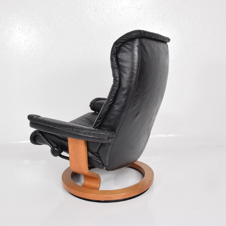 Vintage Scandinavian Modern Ekornes Stressless Recliner Chair U0026 Ottoman    Image 7 Of 11