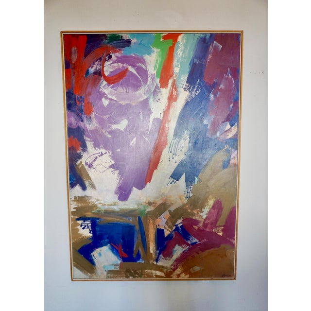 Paint Large Abstract Painting by Erle Loran For Sale - Image 7 of 7