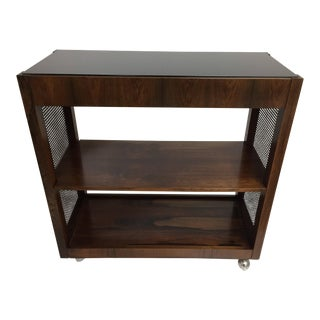 Mid-Century Rosewood Bar Cart For Sale