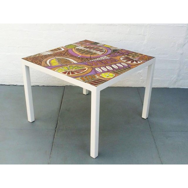 Studio Ceramic Tile Top Table by Brent Bennett For Sale - Image 10 of 10