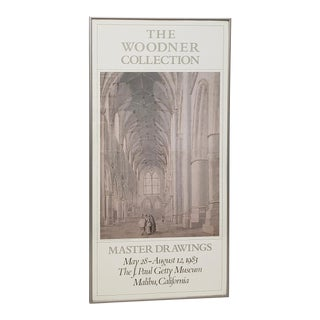 """The J. Paul Getty Museum """"The Woodner Collection"""" Original Exhibition Poster C.1983 For Sale"""