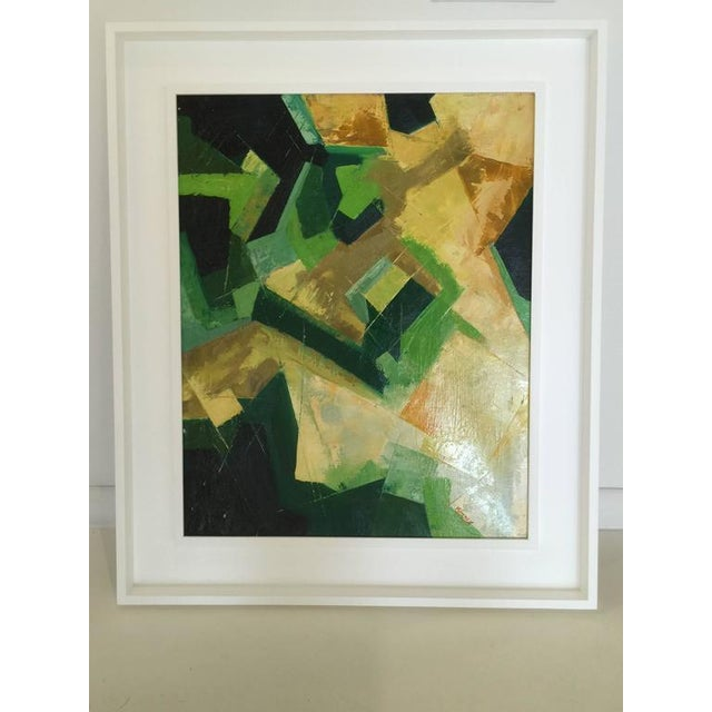 Original Kinney Oil on Board in Multi-Color Abstract - Image 4 of 5