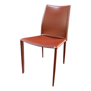 Bontempi Casa Linda Leather Dining Chair For Sale