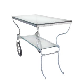 White Metal Trolley With Two Glass Shelves Preview