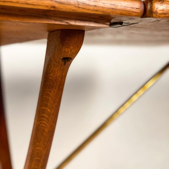 Hans Wegner Andreas Tuck Oak Dining Table For Sale In Portland, OR - Image 6 of 11
