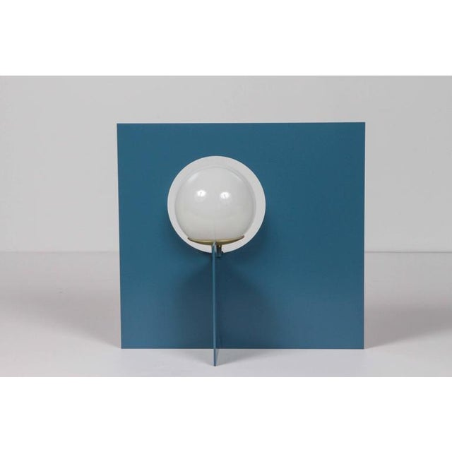 Paul Marra Paul Marra Steel Intersection Table Lamp For Sale - Image 4 of 6