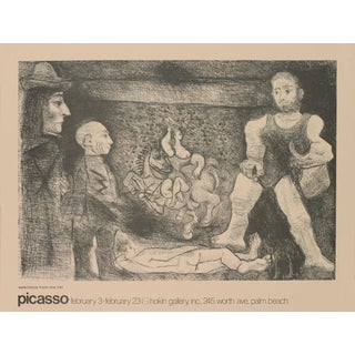 "Pablo Picasso Picasso, Son Oeuvre, Et Son Public (Bloch 1481) 19"" X 25"" Poster 1968 Cubism Brown For Sale"