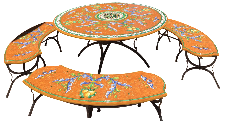 casola dining room. Ceramiche Casola Ceramic Oudoor Dining Set Room E