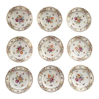 Vintage Schumann Empress Luncheon Plates - Set of 9 For Sale