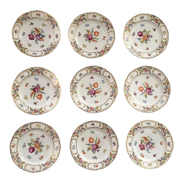 Image of Vintage Schumann Empress Luncheon Plates - Set of 9