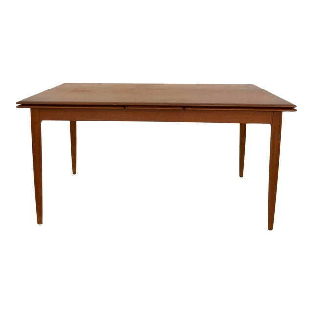 Teak Dining Extension Table by Niels Moller For Sale