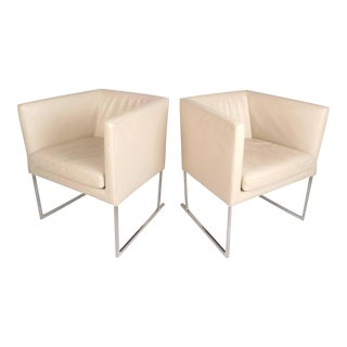 Contemporary Modern Cube Lounge Chairs by Antonio Citterio for B&b Italia For Sale