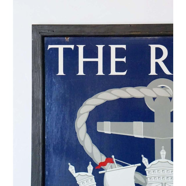 "Mid 20th Century Vinage English Pub Sign, ""The Royal Naval Arms"" For Sale - Image 5 of 13"