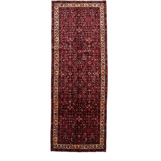 One-Of-A-Kind Persian Hand-Knotted Area Rug, Red, 3' 10 X 10' 6 For Sale