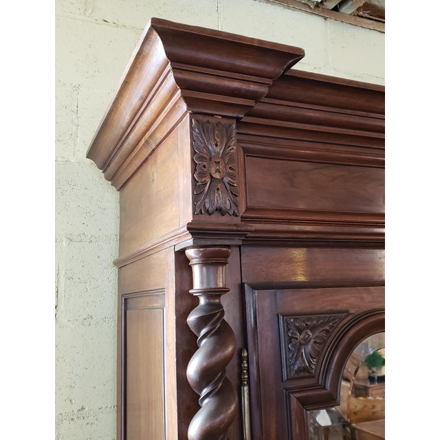Louis XIII Period Walnut Armoire For Sale - Image 4 of 13