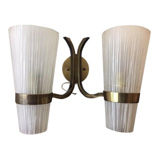 Vintage French Mid-Century Modern Sconce