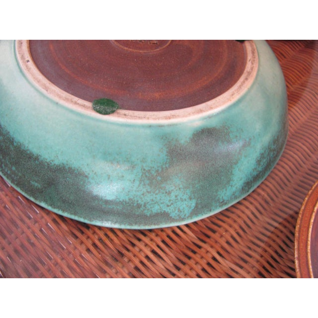20th Century Rustic Saxbo Eva Staehr Nielsen Ceramic Nesting Bowls - Set of 3 For Sale - Image 10 of 13
