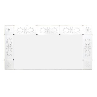 Art Deco Period Etched Mirror For Sale