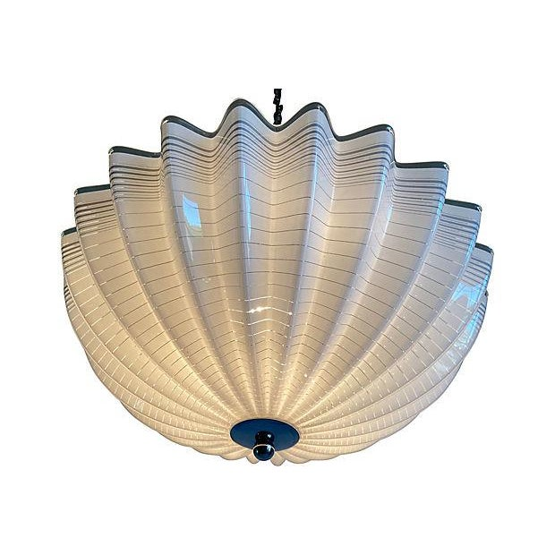 Modern Lucite Pendant Chandelier For Sale - Image 9 of 10