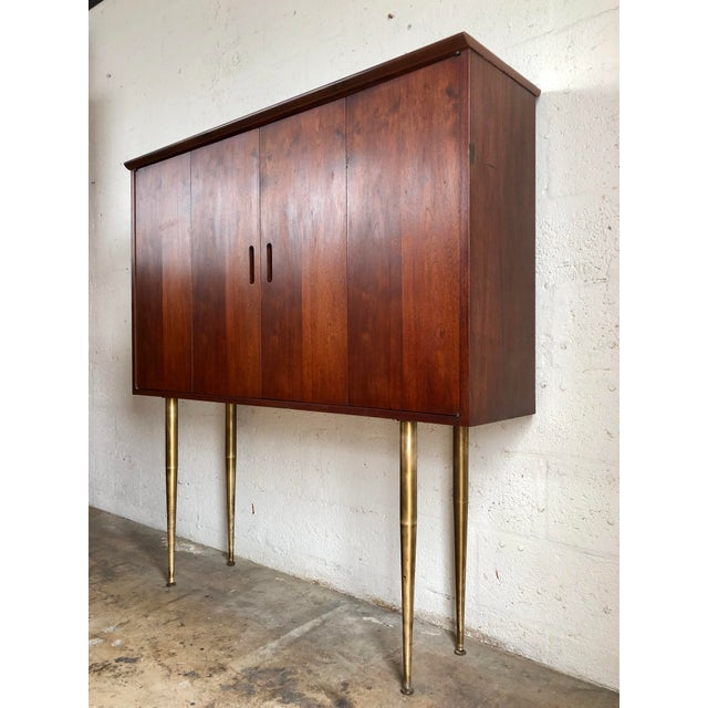 Gorgeous Vintage Mid-Century Modern Jack Cartwright For Founders Danish Style Highboard Credenza. Circa 1960s. This...