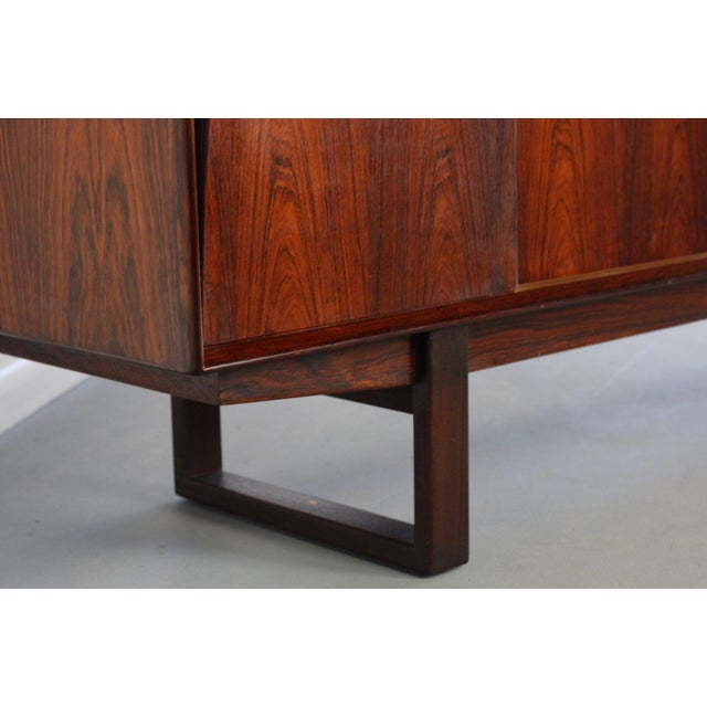 Mid-Century Modern Danish Rosewood Credenza With Sled Legs by Arne Vodder, 1960s For Sale - Image 3 of 10