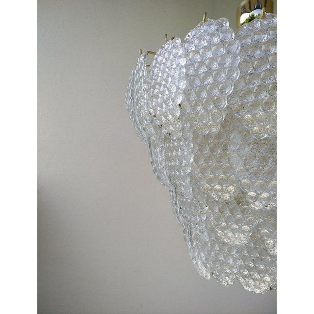 Metal Vintage Murano Glass Ball Room Chandelier For Sale - Image 7 of 12