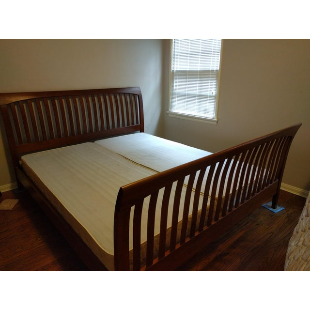 1990s Ethan Allen American Impressions Solid Cherry California King Bed For Sale - Image 5 of 9