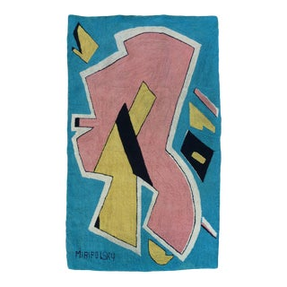 Playful Abstract Tapestry By Miripolsky For Sale