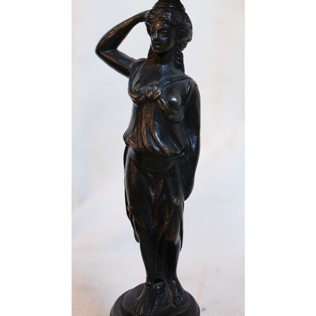 Bronze 19th Century Caryatid Candlesticks - Pair For Sale - Image 8 of 8