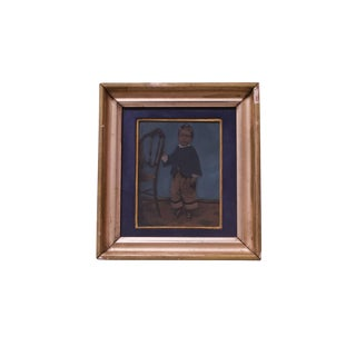 Vintage Tintype With GIltwood Frame For Sale