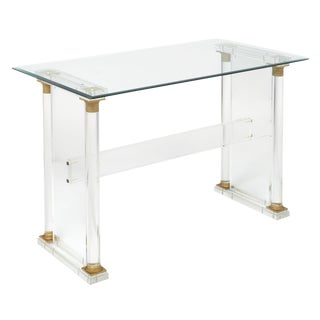 French Lucite Neoclassical Desk/Table