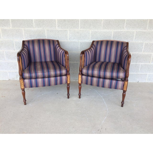 Southwood Furniture Company Pair of Sheraton Style Accent Arm Chairs, Hickory North Carolina. Excellent Vintage Furniture...