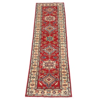 Mid 20th Century Vintage Caucasian Kazak Design Wool Hallway Runner - 2′8″ × 9′5″ For Sale