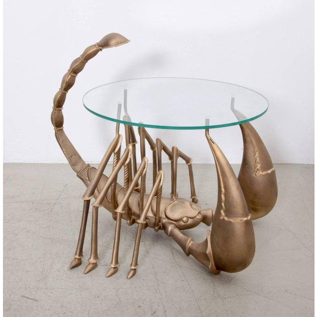 Rare Brass Scorpion Coffee Table attributed to Jacques Duval-Brasseur - Image 7 of 7