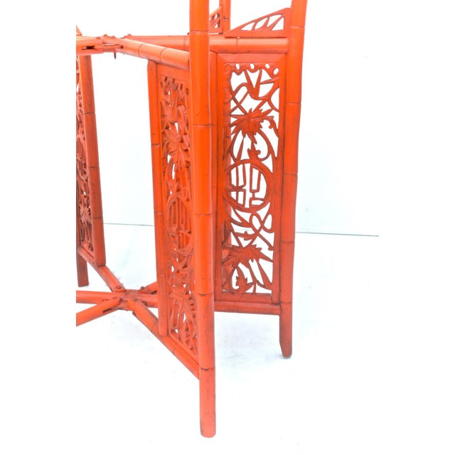 Chinese Brass Tray on Orange Stand - Image 4 of 8