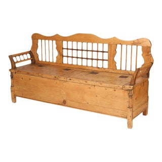 Continental Pine Settle Bench