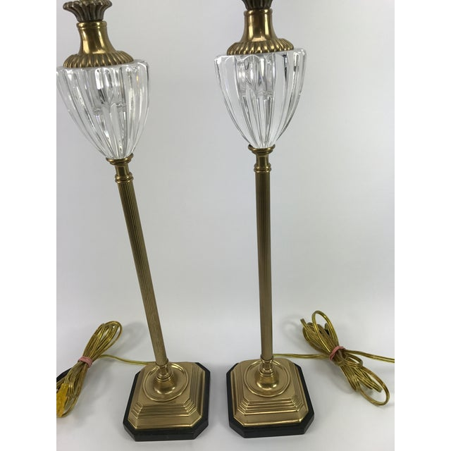 Frederick Cooper Brass & Lucite Buffet Lamps - A Pair - Image 10 of 10