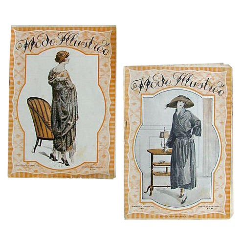 French Fashion Periodicals C.1920, Pair For Sale