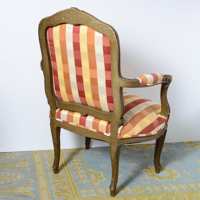 Late 19th Century Painted French Fauteuils - a Pair For Sale - Image 9 of 11